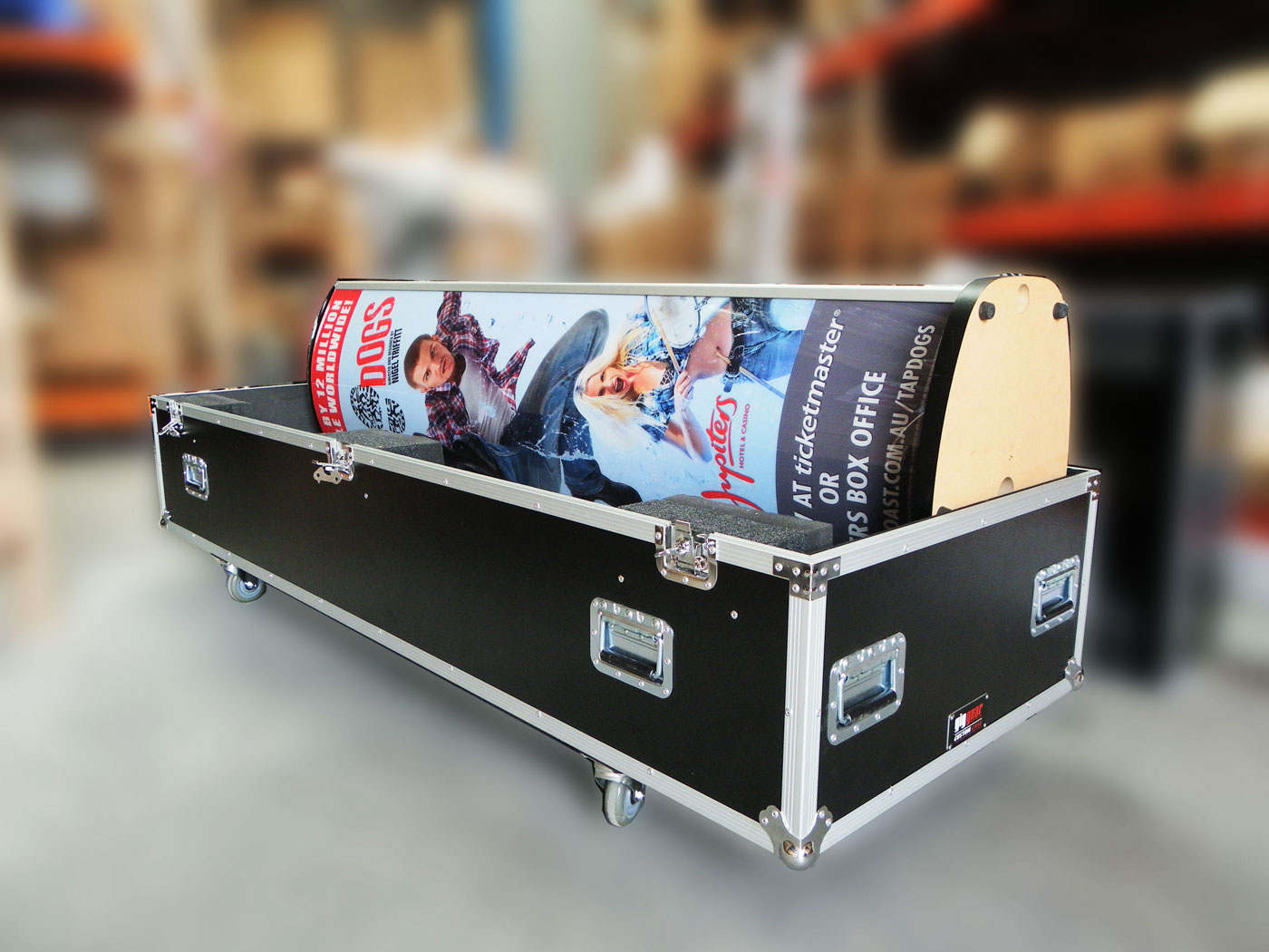 Road Case With Movie Banner