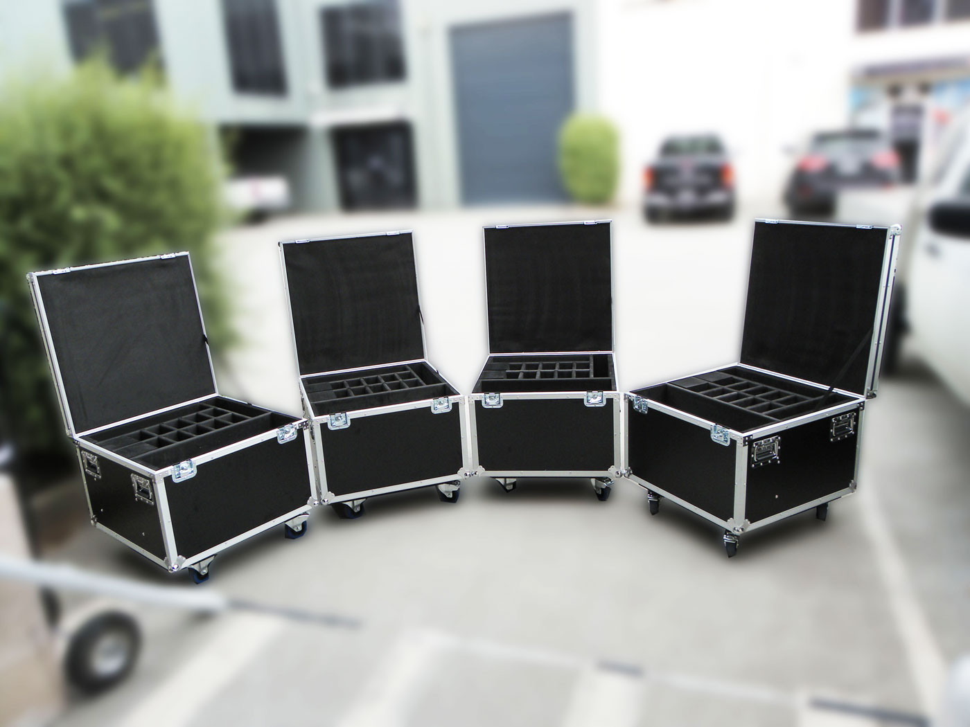 Road Cases with Dividers
